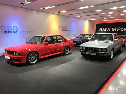Front/Side  of BMW M3  Manual, 195ps, 1989
