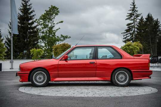 Side  of BMW M3  Manual, 195hp, 1986