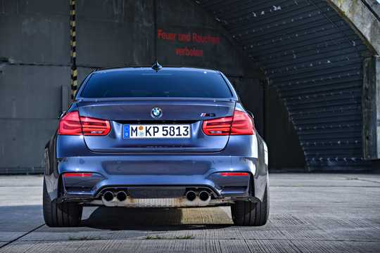 Back of BMW M3  DCT, 431hp, 2017
