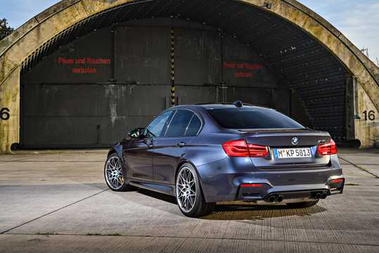 Back/Side of BMW M3  DCT, 431hp, 2017