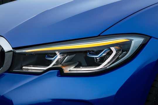 Close-up of BMW 3 Series Sedan 2019