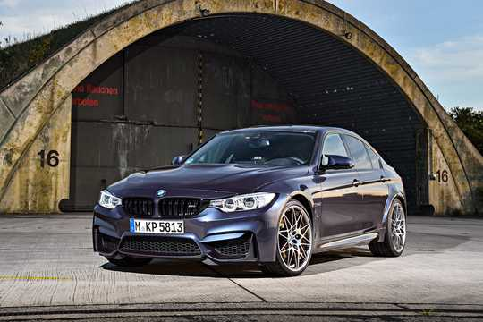 Front/Side  of BMW M3  DCT, 431hp, 2017