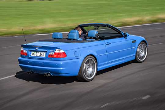 Back/Side of BMW M3 Convertible  Manual, 343hp, 2002