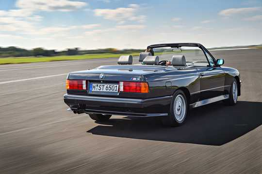 Back/Side of BMW M3 Convertible  Manual, 195hp, 1986
