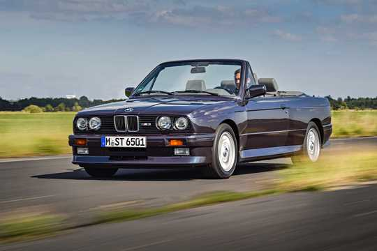 Front/Side  of BMW M3 Convertible  Manual, 195hp, 1986