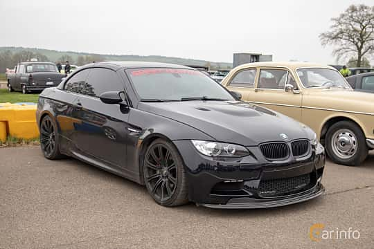 Front/Side  of BMW M3 Convertible  420ps, 2008 at Lucys motorfest 2019