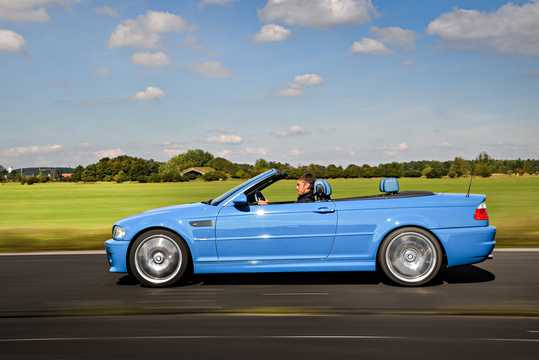 Side  of BMW M3 Convertible  Manual, 343hp, 2002
