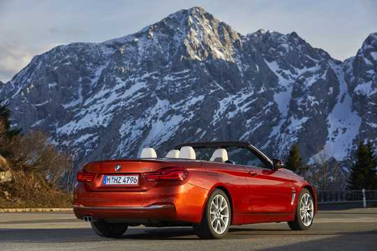 Back/Side of BMW 430i Convertible  Steptronic, 252hp, 2018