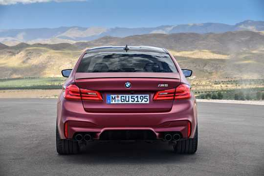 Back of BMW M5  Steptronic, 600hp, 2018