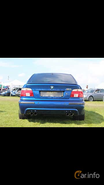 Back of BMW M5 Sedan 5.0 V8 Manual, 400ps, 2000 at Vallåkraträffen 2017