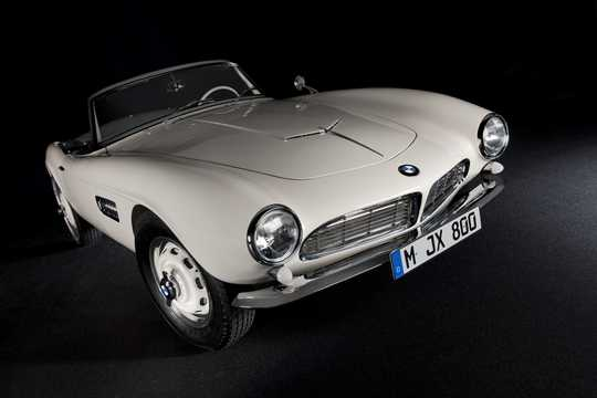 Front/Side  of BMW 507 3.2 V8 Manual, 150hp, 1957