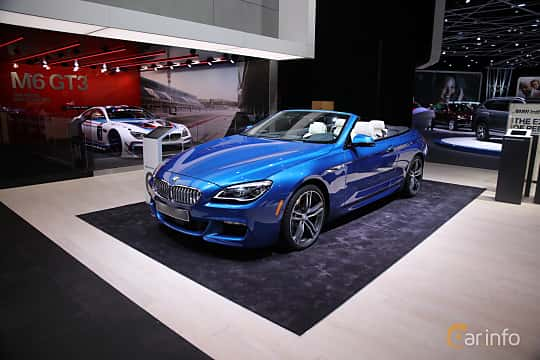 Fram/Sida av BMW 650i xDrive Convertible 4.4 V8 xDrive Steptronic, 450ps, 2017 på North American International Auto Show 2017