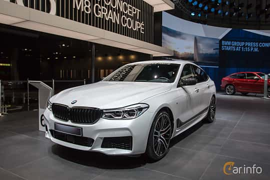 Front/Side  of BMW 640d Gran Turismo xDrive  Steptronic, 320ps, 2018 at Geneva Motor Show 2018