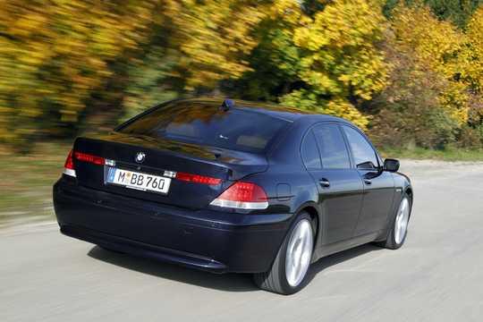 Back/Side of BMW 760Li  Automatic, 445hp, 2002
