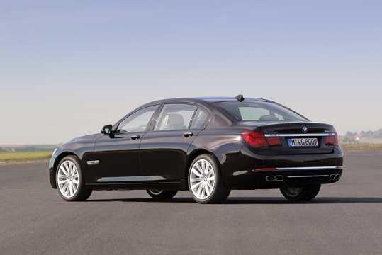 Back/Side of BMW 760Li  Steptronic, 544hp, 2012