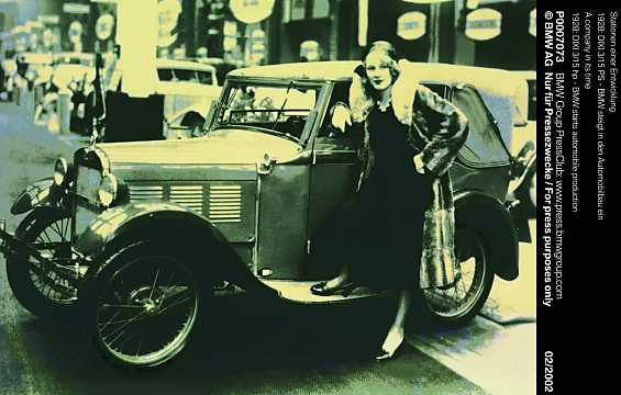 Front/Side  of BMW Dixi 3/15 DA Tourer 0.75 Manual, 15hp, 1928