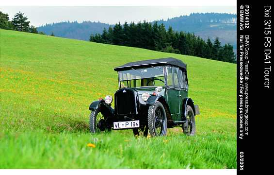 Front/Side  of BMW Dixi 3/15 DA Tourer 0.75 Manual, 15hp, 1928