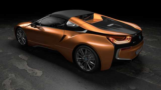 Back/Side of BMW i8 Roadster 1.5 + 11.6 kWh Steptronic, 374hp, 2018