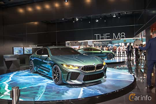 Front/Side  of BMW M8 Gran Coupé Concept Concept, 2018 at Geneva Motor Show 2018