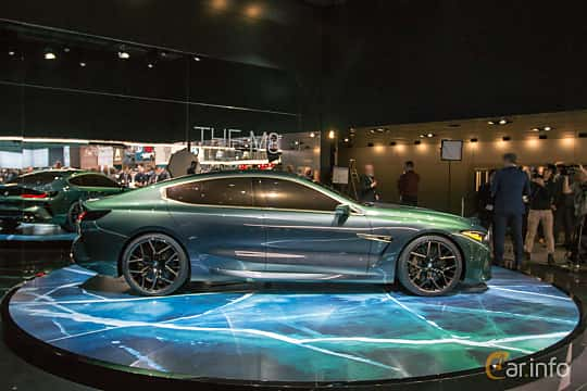 Side  of BMW M8 Gran Coupé Concept Concept, 2018 at Geneva Motor Show 2018