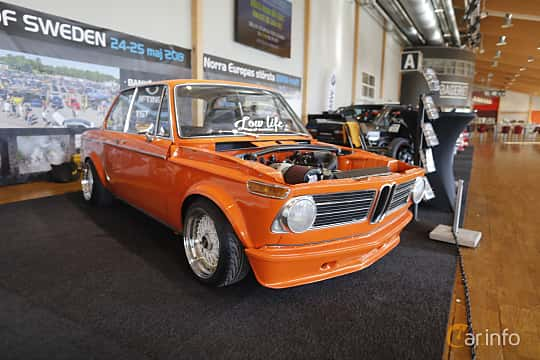 Front/Side  of BMW 1602 2-door  Manual, 85ps, 1972 at Bilsport Performance & Custom Motor Show 2019