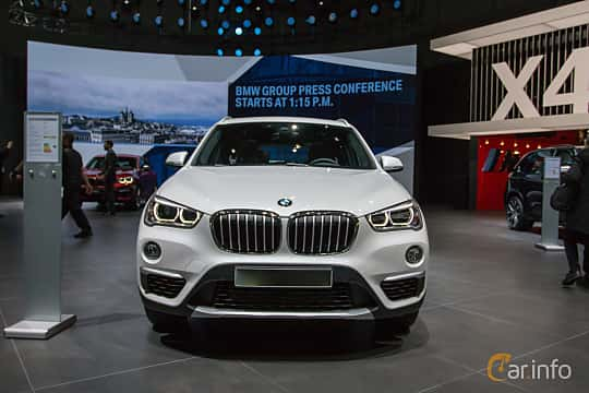 Front  of BMW X1 xDrive18d  Steptronic, 150ps, 2018 at Geneva Motor Show 2018