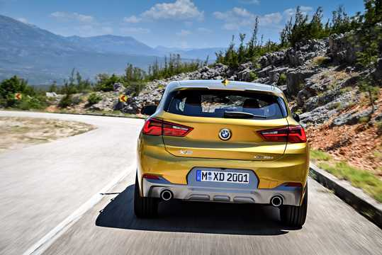 Back of BMW X2 xDrive20d  Steptronic, 190hp, 2018