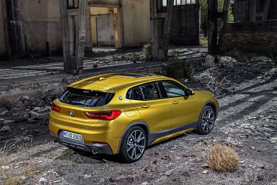 Back/Side of BMW X2 xDrive20d  Steptronic, 190hp, 2018