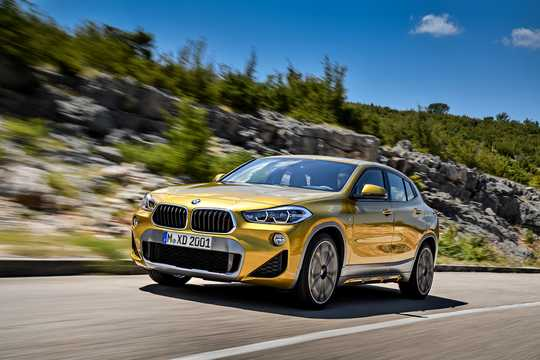 Front/Side  of BMW X2 xDrive20d  Steptronic, 190hp, 2018