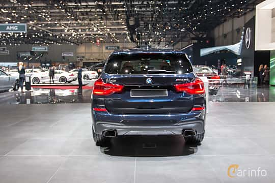 Back of BMW X3 M40i  Steptronic, 360ps, 2018 at Geneva Motor Show 2018