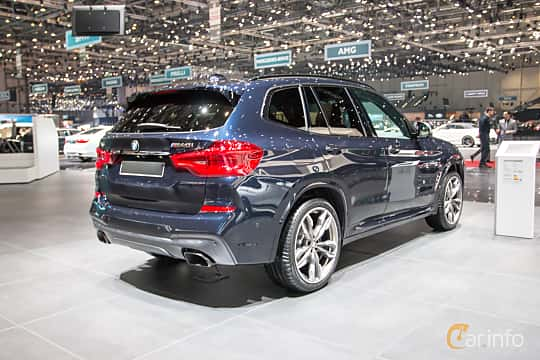 Back/Side of BMW X3 M40i  Steptronic, 360ps, 2018 at Geneva Motor Show 2018
