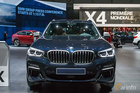 Front  of BMW X3 M40i  Steptronic, 360ps, 2018 at Geneva Motor Show 2018