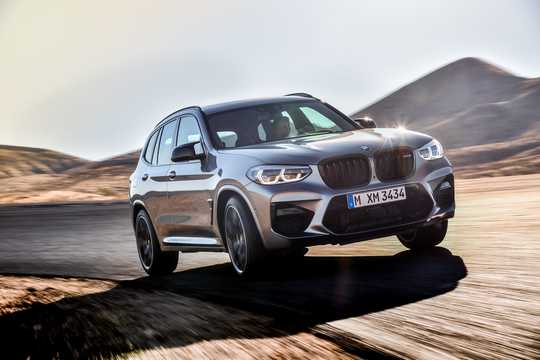 Front/Side  of BMW X3 M Competition  Steptronic, 510hp, 2019