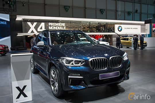 Front/Side  of BMW X3 M40i  Steptronic, 360ps, 2018 at Geneva Motor Show 2018