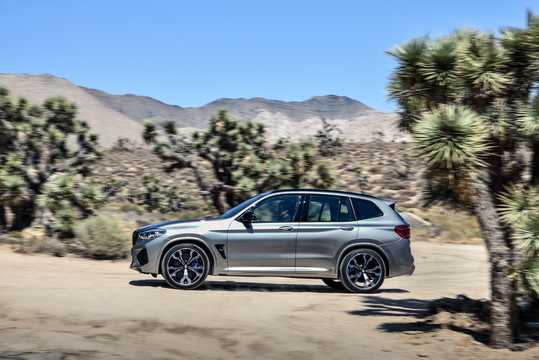 Side  of BMW X3 M Competition  Steptronic, 510hp, 2019