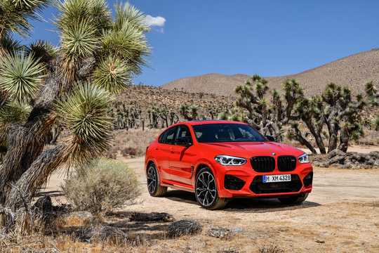 Front/Side  of BMW X4 M Competition  Steptronic, 510hp, 2019