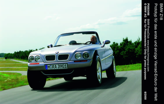 Front/Side  of BMW Z18 4.4 4WD Manual, 353hp, 1995