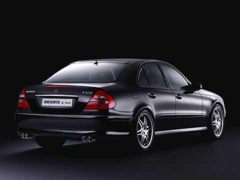 Back/Side of Brabus E 640 V12  5G-Tronic, 649hp, 2002