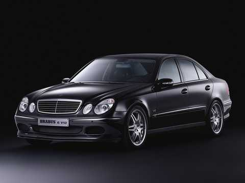 Front/Side  of Brabus E 640 V12  5G-Tronic, 649hp, 2002
