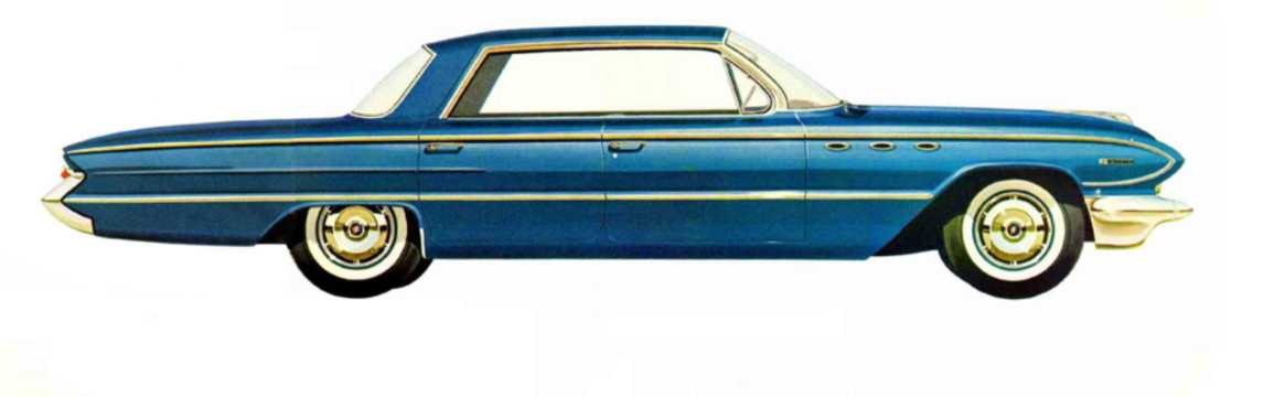 Side  of Buick Invicta 4-door Hardtop 6.6 V8 Automatic, 330hp, 1961