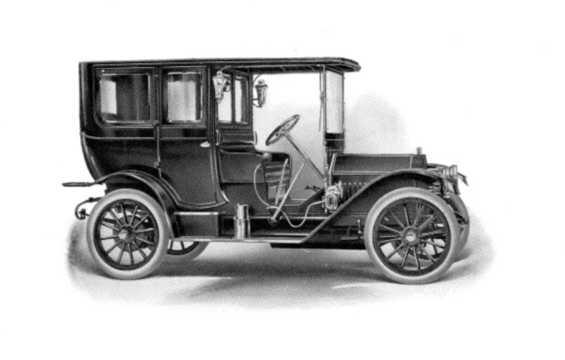 Side  of Buick Model 41 5.2 Manual, 49hp, 1911