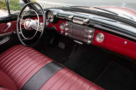 Interior of Buick Super Convertible 5.3 V8 Automatic, 172hp, 1953