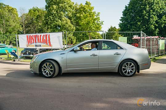 Side  of Cadillac CTS 3.6 V6 Automatic, 309ps, 2008 at Ronneby Nostalgia Festival 2019