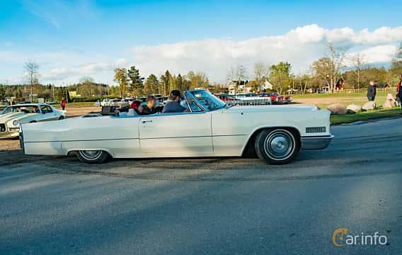 Side  of Cadillac De Ville Convertible 7.0 V8 OHV Hydra-Matic, 345ps, 1966 at Wheelers Cruising, Vetlanda 2019