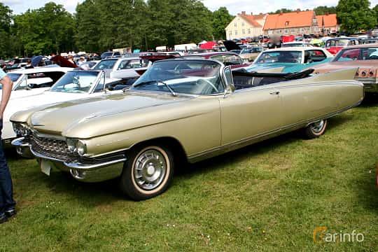 Front/Side  of Cadillac Eldorado Biarritz 6.4 V8 OHV Hydra-Matic, 349ps, 1960 at Hässleholm Power Start of Summer Meet 2016