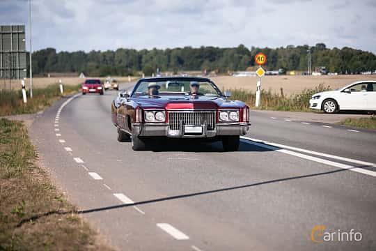 Fram/Sida av Cadillac Fleetwood Eldorado Convertible 8.2 V8 Hydra-Matic, 238ps, 1972 på Lergökarallyt 2018