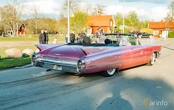 Back/Side of Cadillac Sixty-Two Convertible 6.4 V8 OHV Hydra-Matic, 330ps, 1960 at Wheelers Cruising, Vetlanda 2019