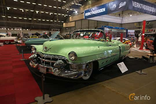 Front/Side  of Cadillac Sixty-Two Convertible 5.4 V8 Hydra-Matic, 213ps, 1953 at Bilsport Performance & Custom Motor Show 2018