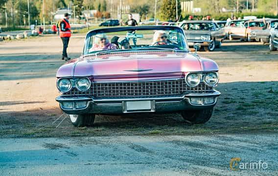 Front  of Cadillac Sixty-Two Convertible 6.4 V8 OHV Hydra-Matic, 330ps, 1960 at Wheelers Cruising, Vetlanda 2019