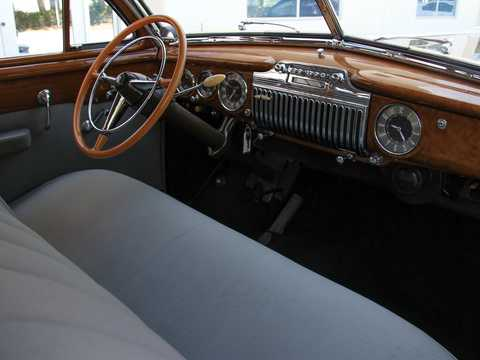 Interior of Cadillac Sixty-Two Club Coupé 5.7 V8 Hydra-Matic, 152hp, 1946